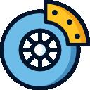 Icono de frenos de coche